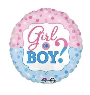 """Girl Or Boy Gender Reveal 18"""" Anagram Balloon Baby Shower Decorations"""
