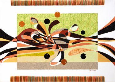 "Saatchi Art Artist Graziella Coi; Collage, ""Cercatori di monete/ Seekers coins"" #art"