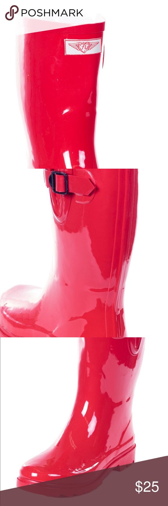 Fantastic On Your Feet Satra Women39s Rubber Rain Boot  Free Shipping On Orders