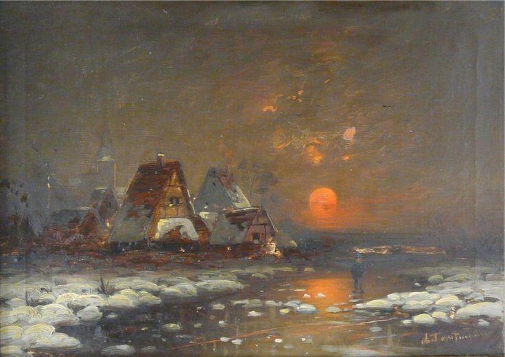 Sonnenuntergang in Winterlandschaft