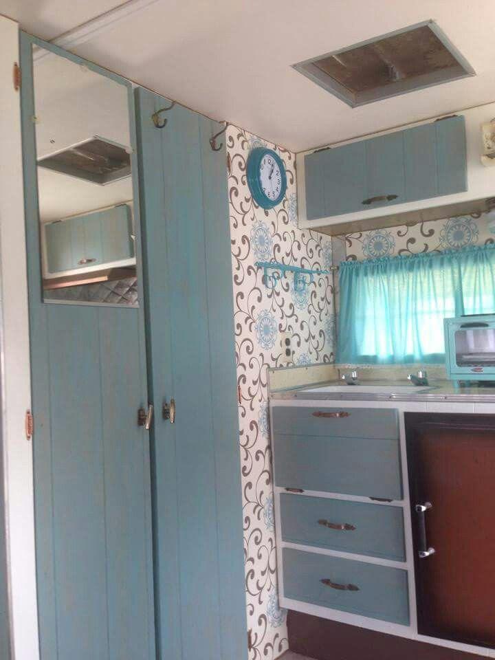 Camper cabinets annie sloan vintage camper fix ups for Camper kitchen cabinets