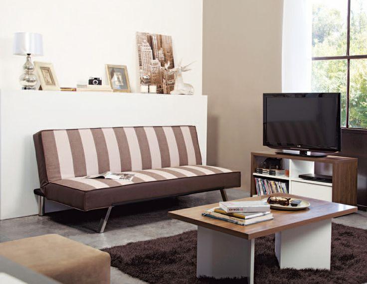 ¿Te gusta esta tradicional combinación de colores?  #Muebles2014 #Descanso #Color #Easy #EasyTienda #Líneas #Futón   http://www.easy.cl/oferta-futones