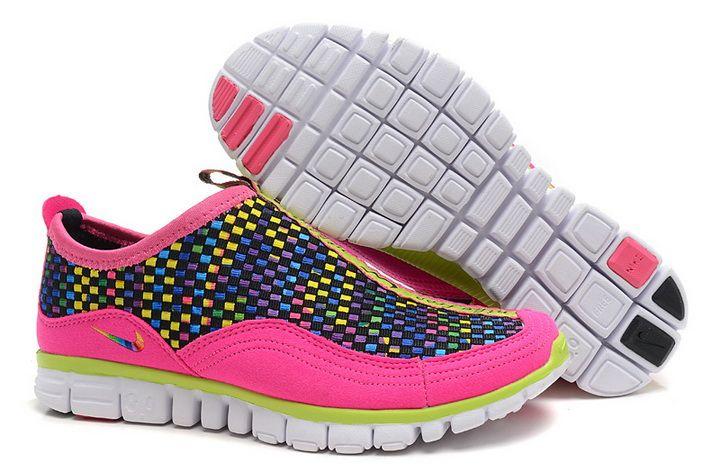 Damen Nike Free Run 3.0 Pink-Rosa Weave Rainbow Rosa Laufschuh FRg1067