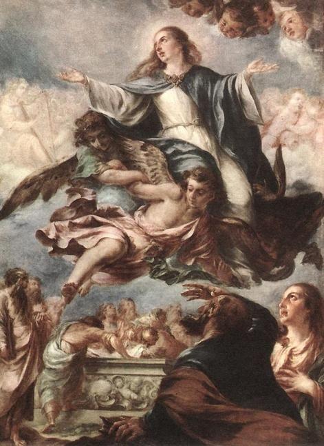La Asuncion De La Virgen Maria Valdes Leal Barroco Pintura
