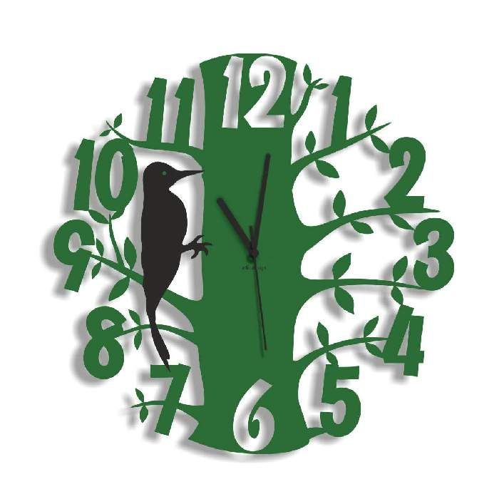 Dekoracyjny zegar ścienny Urlik Design Las ◾ ◾ PrezentBox