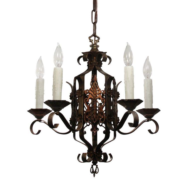 wrought iron chandeliers antique lighting light fixtures tudor spanish irons