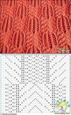 Необычный узор спицами схема. Вязание спицами необычные узоры и схемы. | Домоводство для всей семьи