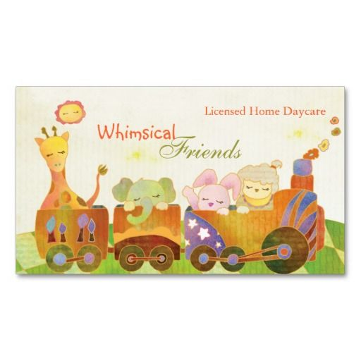 232 Best Childcare Business Cards Images On Pinterest Childcare