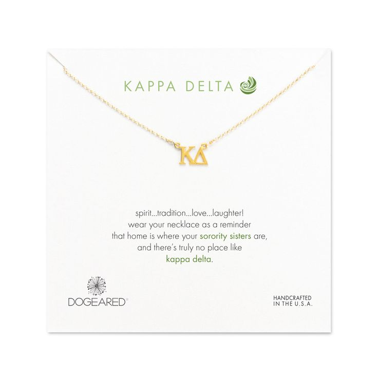 Kappa Delta Necklace, Gold Dipped | Dogeared