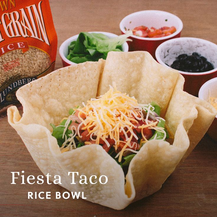 Make this 5 ingredient taco bowl Lundberg organic short grain brown rice as the base. It's easy for a dinner, lunch and packed with whole grains.