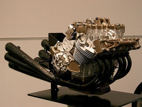 1966 Honda RC166 In-line Six Cylinder 250 cc Grand Prix (Engine Detail)
