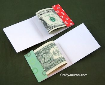 Need a nifty way to give a monetary gift this year? Make a 'matchbook' holder from cardstock, scrapbook sheets or even wallpaper. Use for other occasions, too!