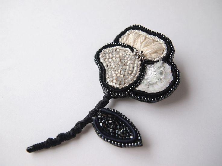 cotton candy 刺繍 ブローチ 【hana】の画像4枚目