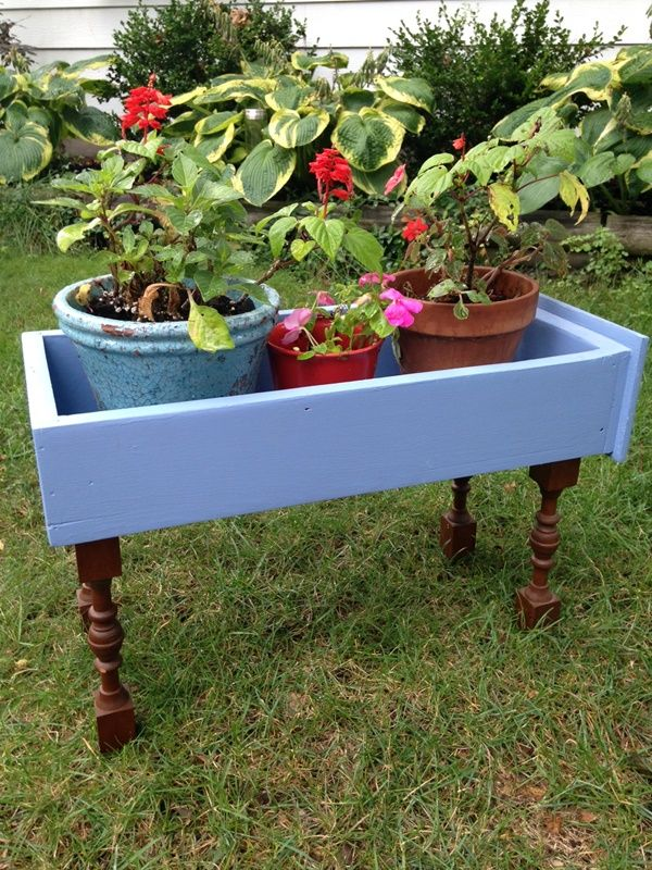 Diy Upcycled Dresser Drawer Planter Box Outdoor Spaces