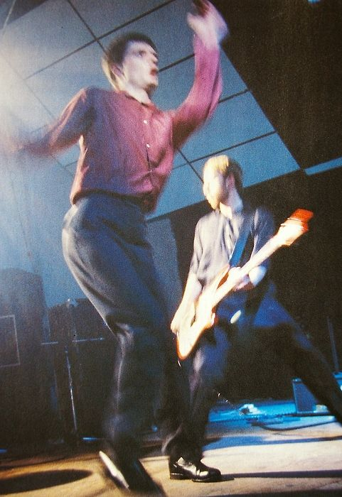 Joy Division. Ian Curtis and Peter Hook <3 <3