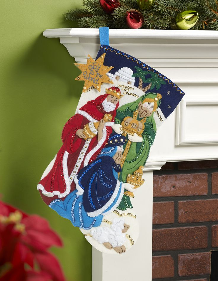 Three Wise Men (Kings) Bucilla Stocking kit is the title of this newly released (September 2015) stocking kit from Bucilla. Available at MerryStockings.com.