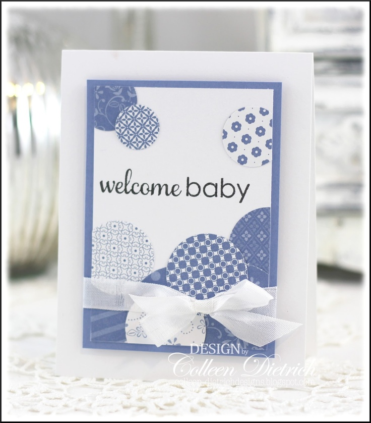 i'm pretty sure that between 2 different sets i have welcome & baby to make a card like this. great use of scraps!