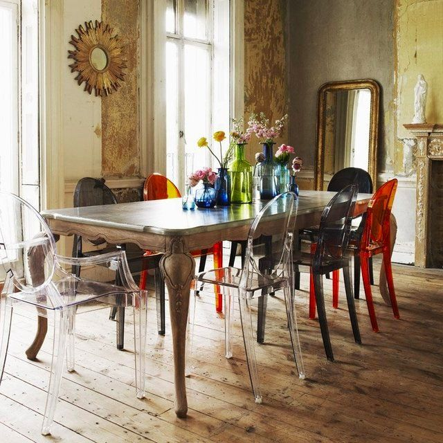 Kartell Victoria Ghost Chair by Philippe Starck. 106 best Dining room images on Pinterest   Dining room design