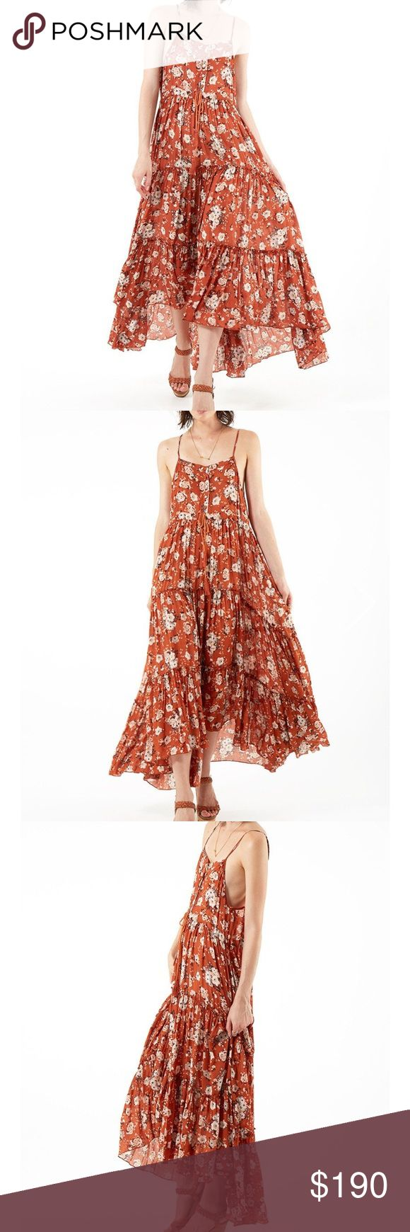 Spell & the Gypsy Dancer Maxi Sundress Worn once! Bought directly from Spell. Gorgeous flowy maxi with draw string waist and button up top. Adjustable straps. Spell & The Gypsy Collective Dresses Maxi