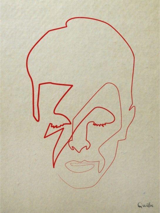 One line illustrations : 16 portraits minimalistes d'icônes pop | MinuteBuzz