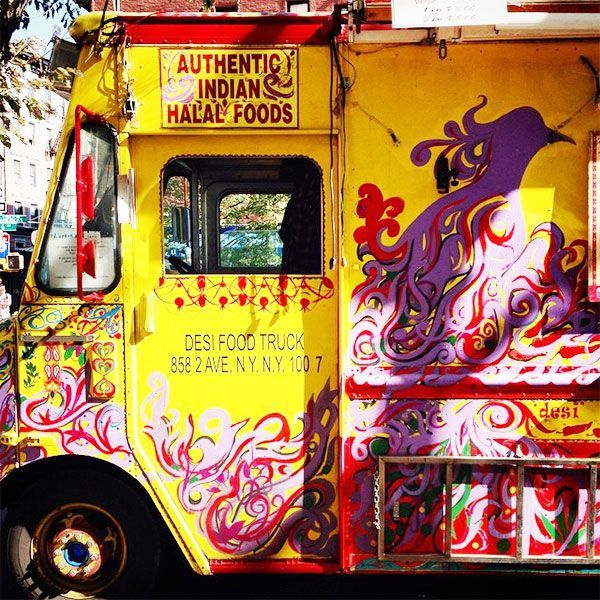 """The Most Instagrammed Street Food In New York City #refinery29  http://www.refinery29.com/nyc-street-food-pictures#slide-30  Desi Food TruckSpot this bright yellow food truck and you'll know you're in for a serious (and seriously authentic) Indian treat. The prices are reasonable, the portions are generous, and their puri bhaji (a.k.a. """"the game changer"""") might just be one of the best in the city.Desi Food Truck, Soho Square Park, Sixth Avenue (at Spring Street); 212-961-6193."""