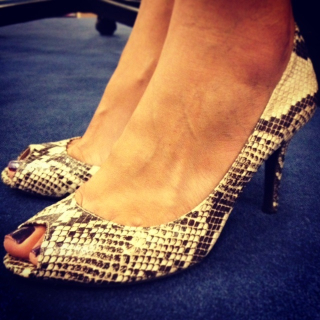 rosemary orozco shares a shot of her  snake skin heels