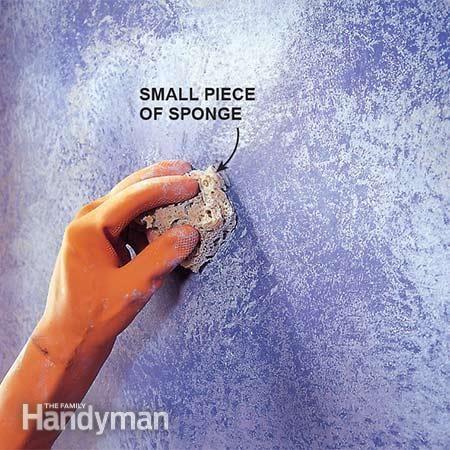 best 25 sponge paint walls ideas on pinterest textured. Black Bedroom Furniture Sets. Home Design Ideas