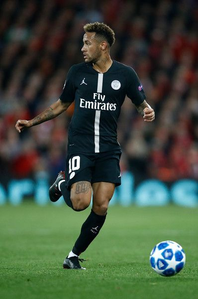 Neymar Photos - Neymar of PSG in action during the Group C match of the  UEFA Champions League between Liverpool and Paris Saint-Germain at Anfield  on ... 4791e2ecf