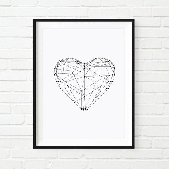Serce konstelacja plakat