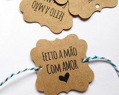 Gift Tag Feito a Mão com Amor