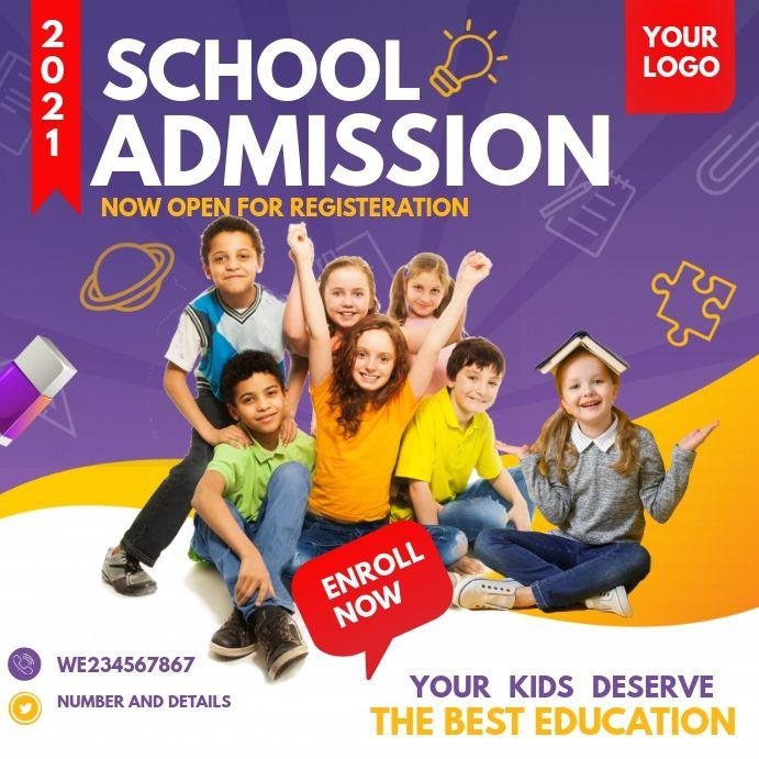 Back To School School Admission School Admissions School Posters Admissions Poster
