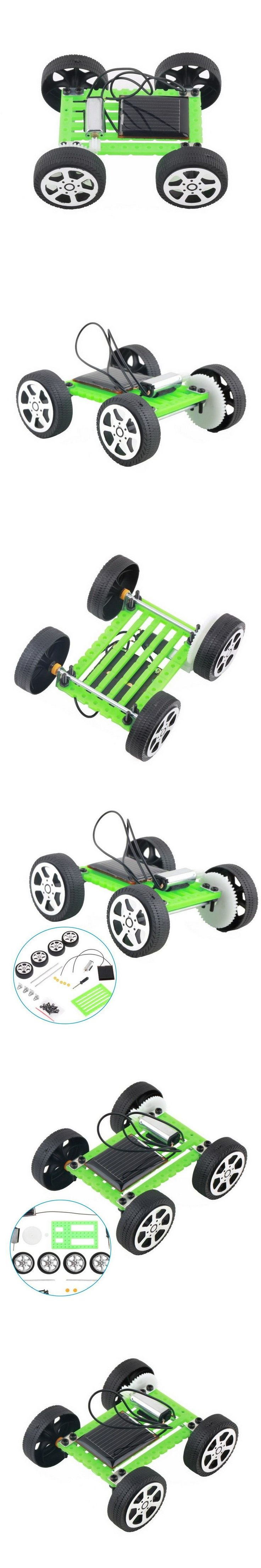DIY Solar Toy Car Assemble Solar Vehicle Mini Solar Energy Powdered Toys Racer Child Kid Solar Car Education Kit VB217 P