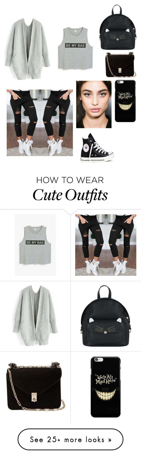 """Comfy school outfit"" by bloodrose6 on Polyvore featuring Monki, Chicwish, Accessorize and Valentino"
