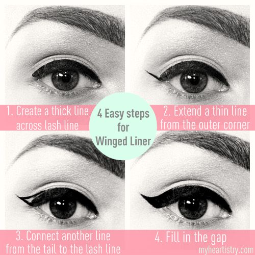 simple instructions for creating a perfect cat eye