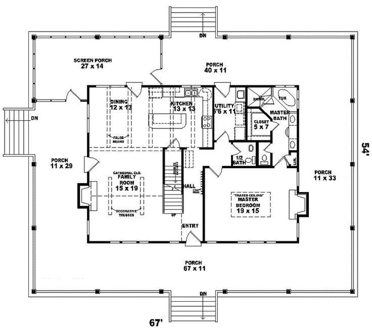 Farmhouse Plan First Floor