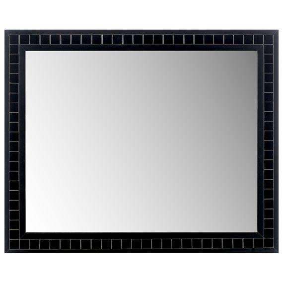 Espelho, para parede, com moldura em madeira maciça de reflorestamento (Pinus Elliotti) com acabamento em pintura acrílica e aplicação de mosaico em pastilha de vidro.  Acompanha componentes para fixação em paredes de alvenaria.