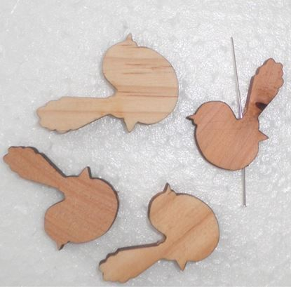 Show details for Large Wooden  Bird Laser Cut For Beading Wren