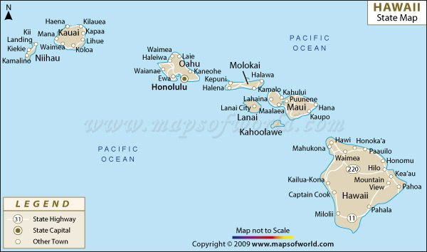 Best Travel Images On Pinterest Maps Hawaiian Islands And - Map of state of hawaii