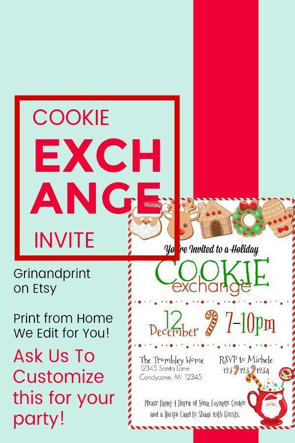 Christmas Cookie Exchange / Cookie Swap / Holiday Party / Christmas