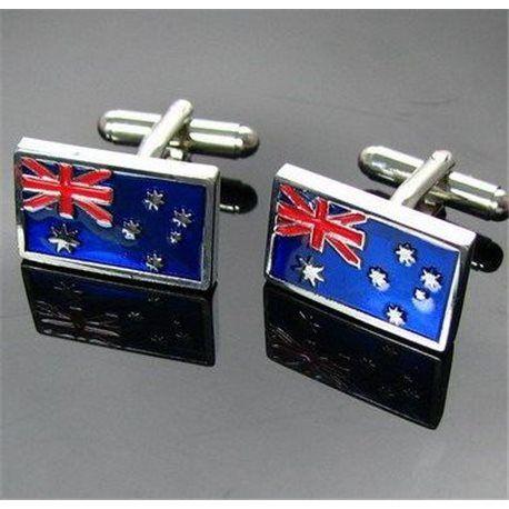 Bouton de manchette drapeau australien