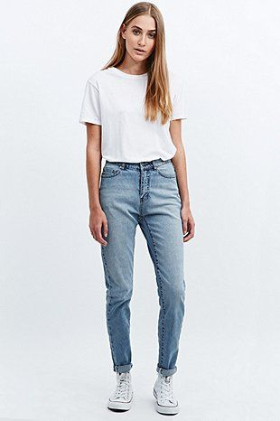 Cheap Monday - Jean Donna droit bleu moyen - Urban Outfitters