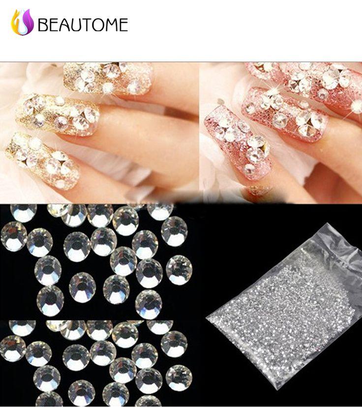 3d Nail Art Decorations Acrylic Diamond Rhinestones Nails Art Accessories White Acrylic Nail Art Decoration Glitter Rhinestones%