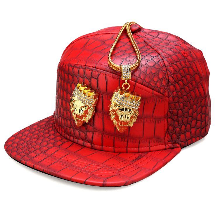 Crown Lion Head Logo High Quality Fashion PU Hip Hop Full Cap For Men Women Lindy Star Snapback Skateboard Hats Rock Rapper Bone