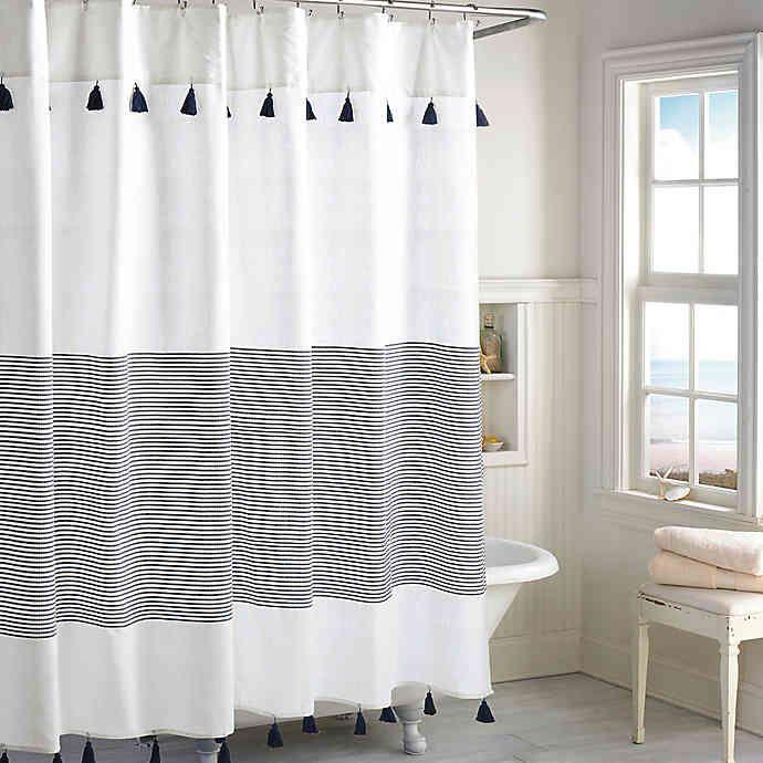 Peri Home Panama Stripe Shower Curtain Bed Bath Beyond