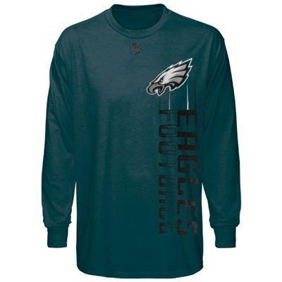 Philadelphia Eagles Youth Team Motion Long Sleeve T-Shirt - Midnight Green nfl shop