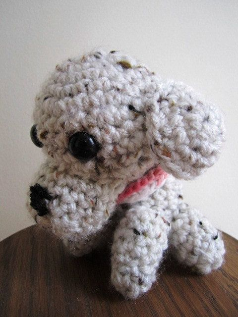 Amigurimi Puppy Hand Crocheted Pocket Dog Toy by stitchingbevy, $15.00