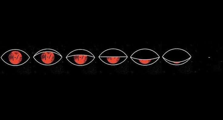 I saw someone's theory saying that maybe the eye is blurryface's because it's red. That maybe it's blurryface who is finally asleep. Kinda a cool thing to think about