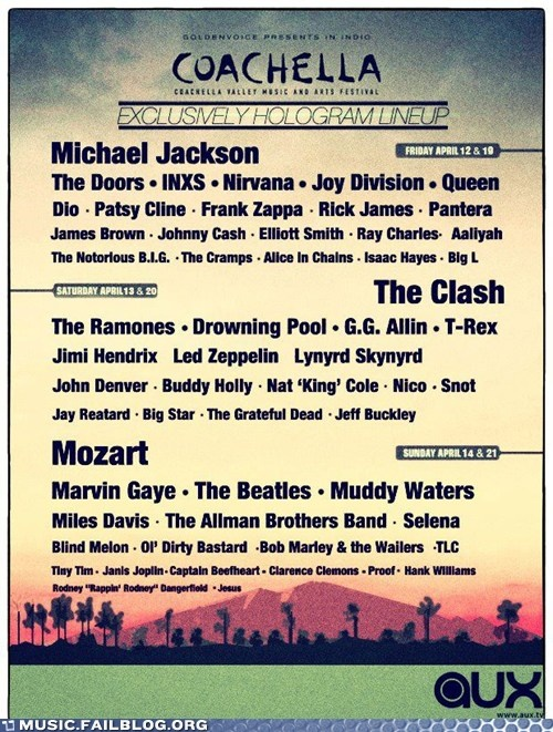 Coachella 2013: Jesus isn't headlining, but I'm glad to see Blind Melon is included.