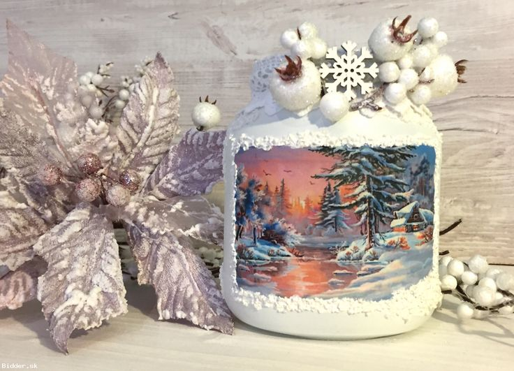 Svietnik vianočný / vázička Západ slnka