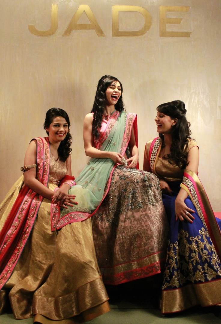 Our aspiring JADE Brides are having a gala of a time!  #JADEbyMK #JADEBrides #wedding #India